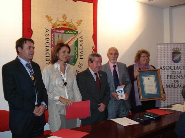 De izq a drch: José Manuel Atencia, Elena Blanco, Andrés García, Antonio Morales y Teresa Santos.