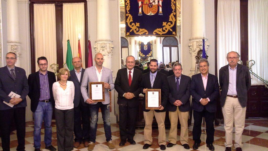 V premio Periodismo Ciudad Málaga foto familia
