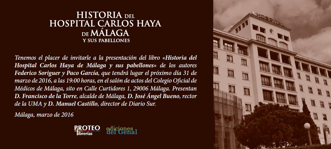 Invitación Libro Carlos Haya