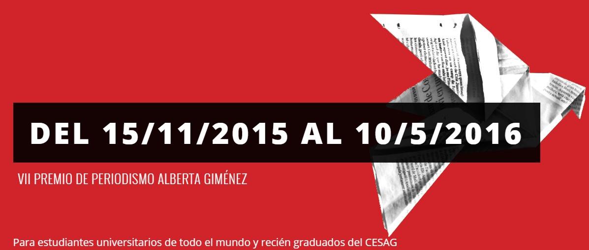 VII Premio de periodismo Alberta Giménez