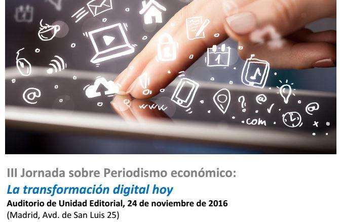 III jornada sobre periodismo economico