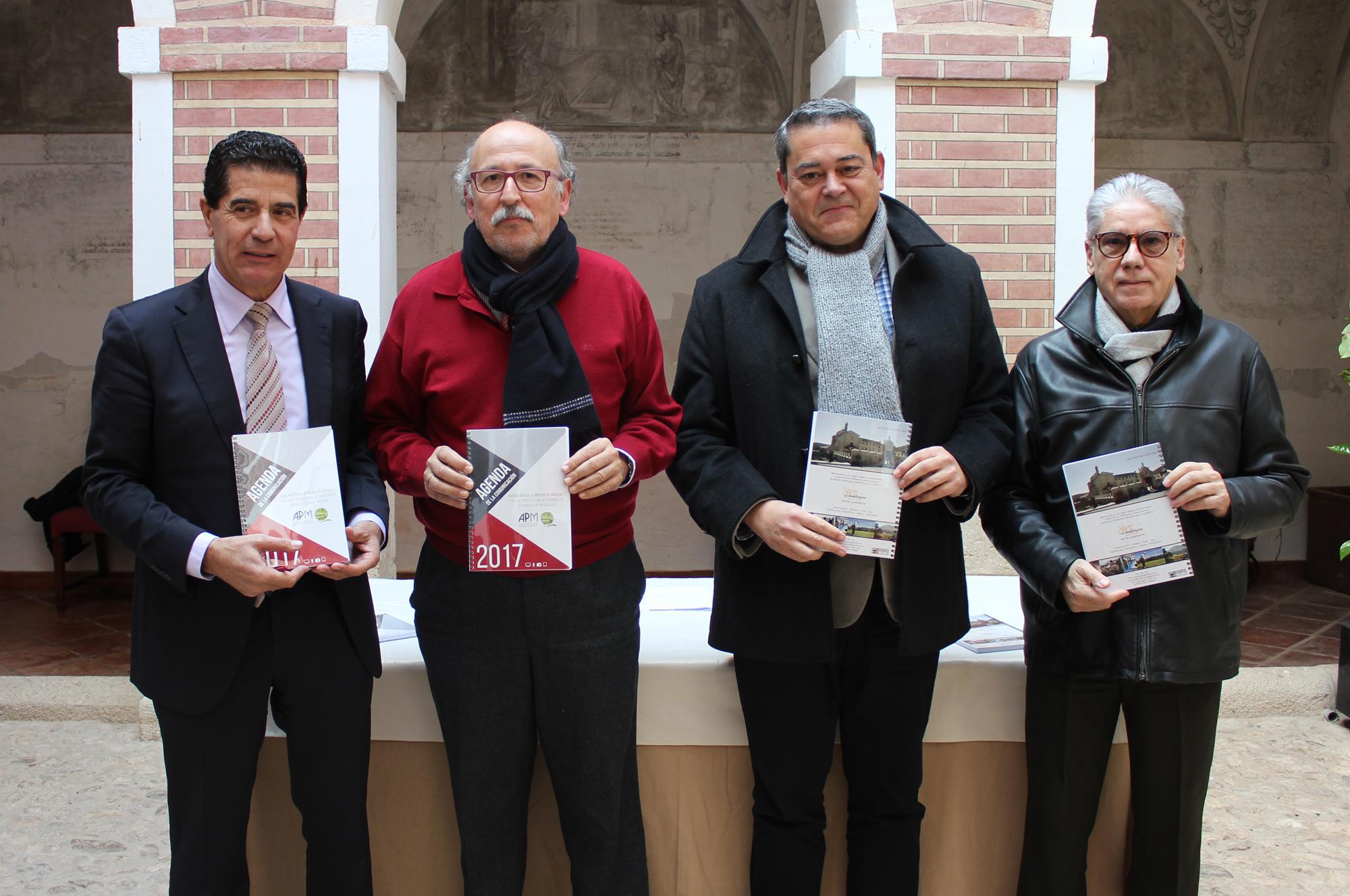 presentación-Agenda-de-la-Comunicación-de-Málaga-Ramón-Jiménez-y-directiva-Asociación-Prensa-Málaga