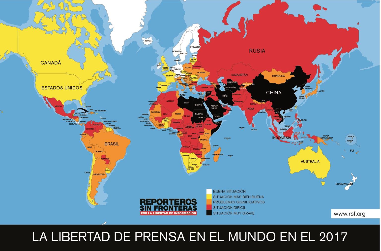 mapa libertad prensa