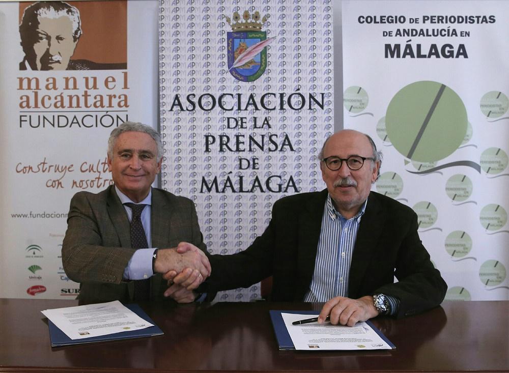 Firma del convenio con la Fundación Manuel Alcántara