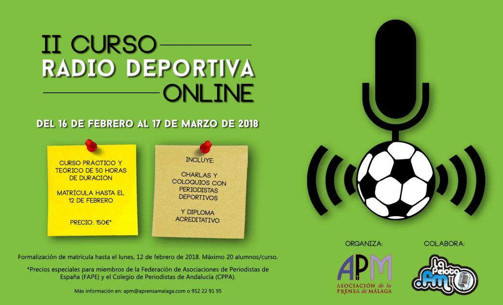 II CURSO RADIO DEPORTIVA ONLINE Febrero 18