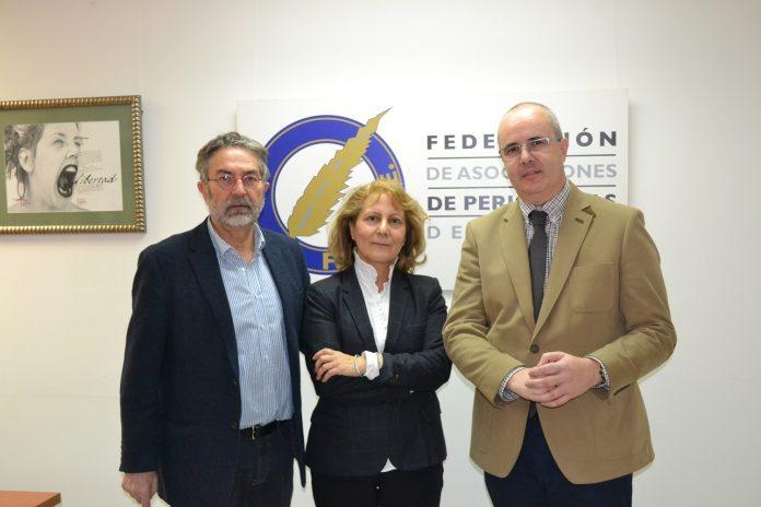 De izquierda a derecha Antonio Rubio Elsa González y José María Legorburu
