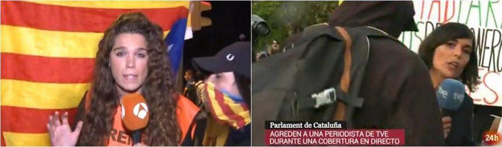 Pantallazos agresiones TVE Antena3 2
