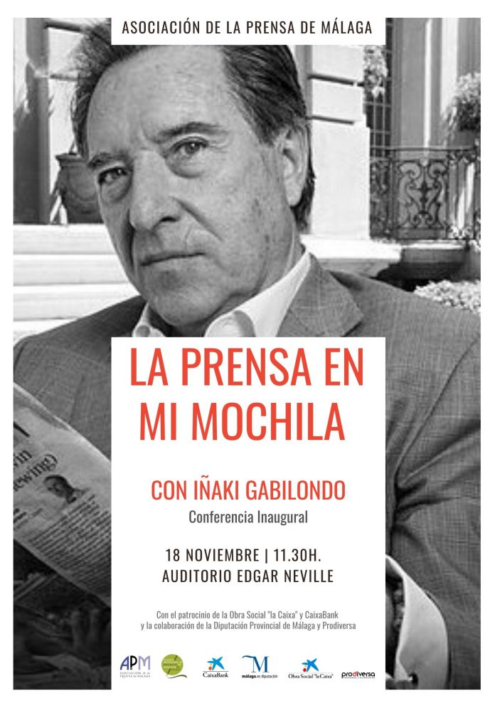 CARTEL. Iñaki Gabilondo inaugura La Prensa en mi Mochila