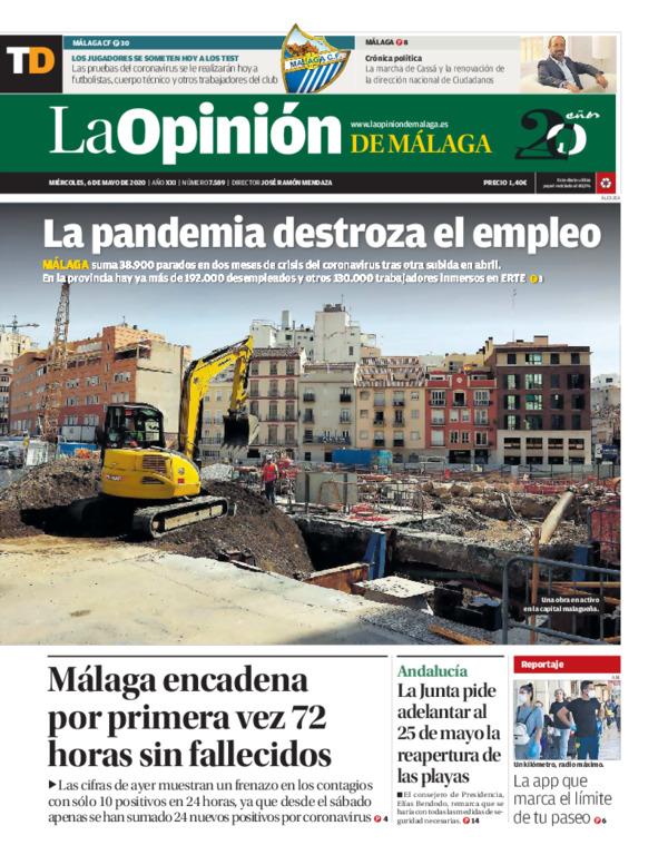 La Opinión de Málaga SUR, 06/05/2020