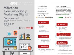 Precio especial para los asociados en el Máster de Marketing y Comunicación Digital de ESESA