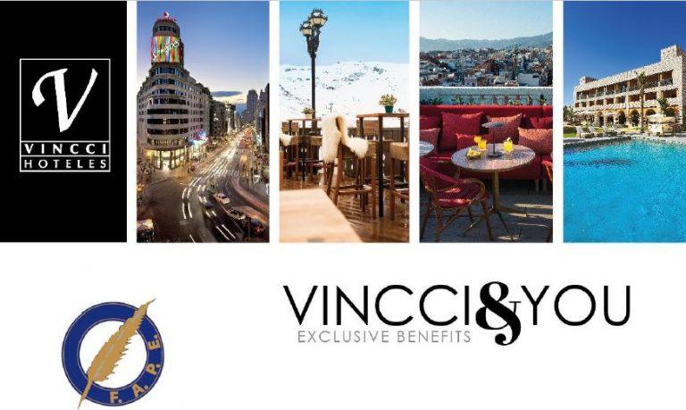 Descuento del 25% en los hoteles Vincci para miembros de la FAPE