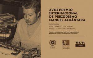El Premio de Periodismo Manuel Alcántara amplía el plazo de entrega al 29 de julio