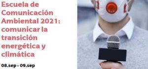 Abierta la inscripción para la Escuela de Comunicación Ambiental 2021 dentro de los Cursos de Verano de la Universidad del País Vasco