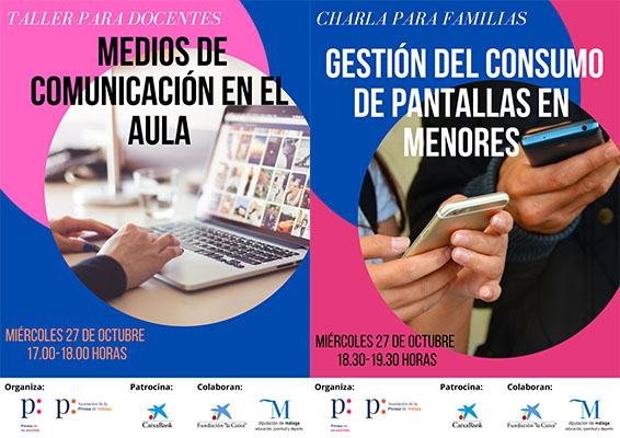 El 27 de octubre comienzan los talleres de alfabetización mediática para docentes y familias